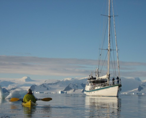 Kayaking in Antarctica from yacht Australis