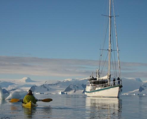 Kayaking in Antarctica from yacht Australis