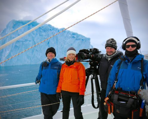 60 minutes crew in Antarctica