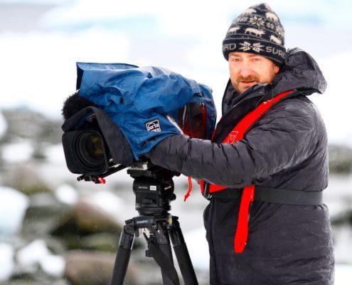 Cameraman Andy Taylor 60 minutes antarctica