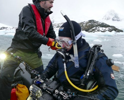 Diving antarctica, film, 60 minutes