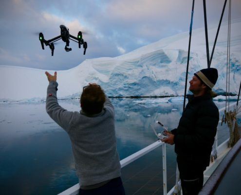 Drone flying in Antarctica 60 minutes
