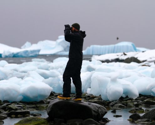 Doug Krause scouting for Leopard Seals antarctica 60 minutes